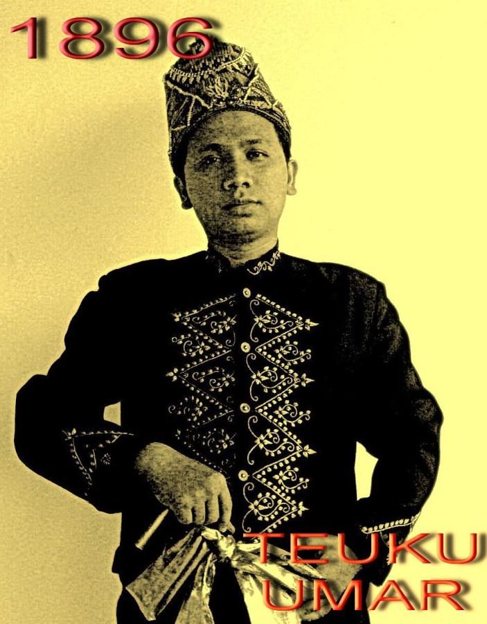 Illustrasi Foto Teuku Umar tahun 1896
