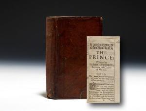 """Cetakan Pertama """"Sang Pengeran"""" karya Niccolo Machiavelli terjemahan dalam Bahasa Inggris"""