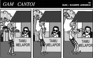 GAM CANTOI MELAPOR