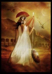 Athena adalah Dewi Kebijaksanaan, Perang dan kerajinan