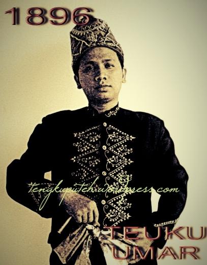Illustrasi sosok Teuku Umar Johan Pahlawan