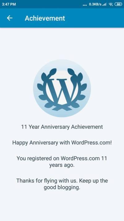 11 Year Anniversary Achievement