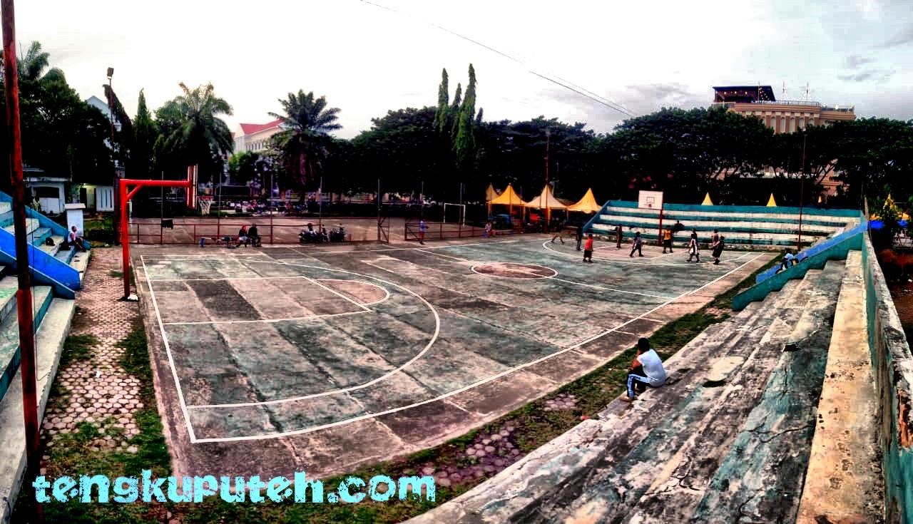 Lapangan Basket Di Blang Padang Banda Aceh Tengkuputeh