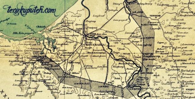 Peta Banda Aceh dan sekitarnya 1873-1896