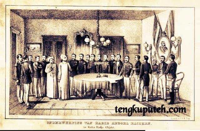 Habib Abdurrahman Az-Zahir menyerah kepada Belanda pada tahun 1878 Masehi bersama dengan 20 orang pengikut. Ia memperoleh uang tahunan sebesar sepuluh ribu ringgit Spanyol seumur hidup.