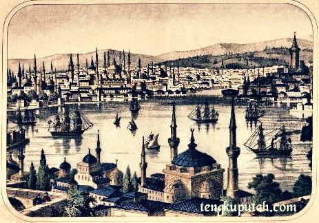 Lukisan Istanbul, ibu kota Turki Ustmani pada tahun 1860.